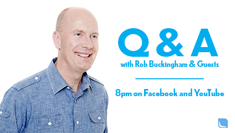 Every Tuesday night at 8pm, Ps Rob Buckingham goes live on Facebook and Youtube for a great Q&A session. Answering theological and life questions, it is a great one-hour discussion that people can engage in. For those that don't have access to Facebook, you can head to the Bayside Church Youtube page.