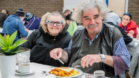 People experiencing economic hardship or social isolation are welcomed to enjoy the comforts of a home-cooked meal and friendship at Matt's Place community meals program in Cheltenham and Chelsea.